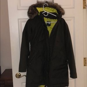 NorthFace Long Goose Down Jacket